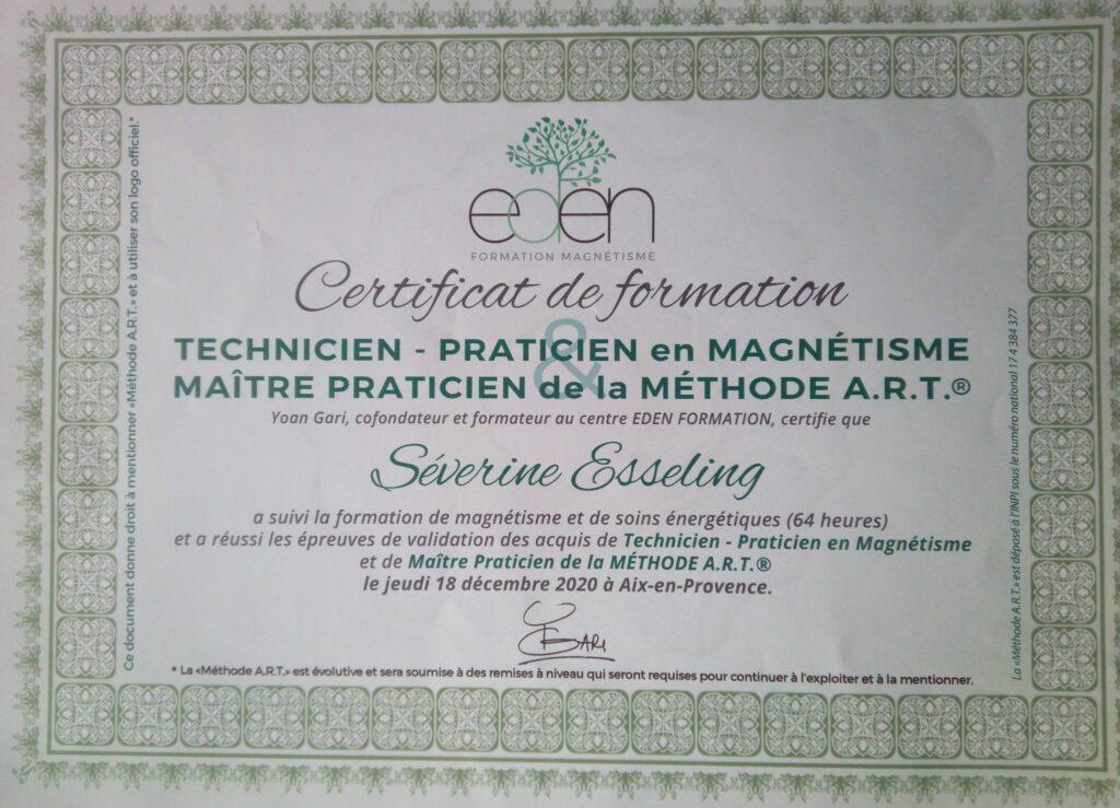 certificat magnétisme severine essseling